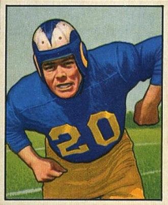 Dick Huffman - Huffman on a 1950 Bowman football card