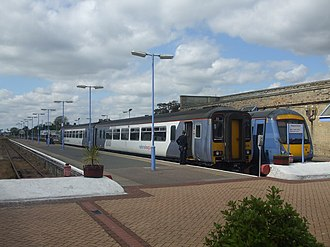 Trains at Lowestoft station Diesel Multiple Units stand at Lowestoft - geograph.org.uk - 1460645.jpg