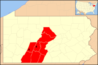 Roman Catholic Diocese of Altoona–Johnstown - Image: Diocese of Altoona Johnstown map 1