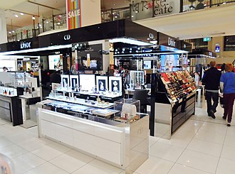Parfums Christian Dior - Large cosmetics counter at Australian department store MYER in Sydney