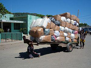 Cart - A Haitian hand cart.