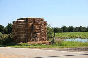 Dolliver Memorial State Park - One of the entrance portals into the park.
