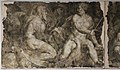 Domenico brusasorzi, affreschi dalla facciata di palazzo fiorio della seta, 155 circa, minerva, plutone, mercurio e giove.jpg