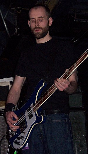 Dominic Aitchison - Aitchison performing with Mogwai at The Avalon on 6 March 2006