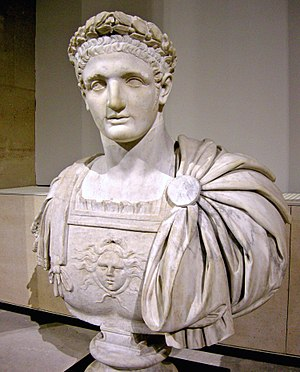 Domitian - Bust of Domitian, in the Musée du Louvre, Paris