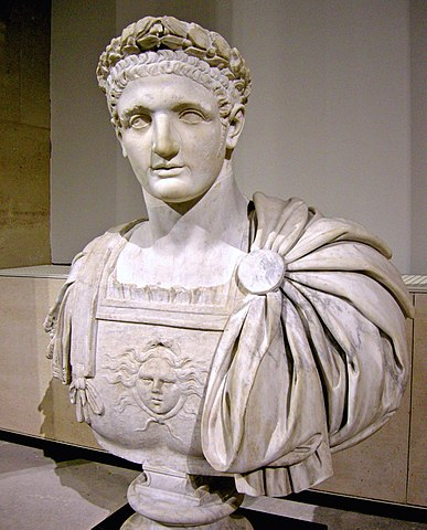Bust of Roman Emperor Domitian (r. 51-96, CE).  (Wikimedia Commons)  Luke was likely composed during Domitian's reign.