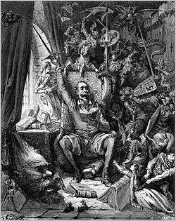Una de las múltiples ilustraciones que realizó el artista Gustave Doré para El Quijote.