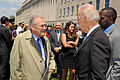 Donald Rumsfeld and Joe Biden at a Pentagon memorial service 2011.JPG
