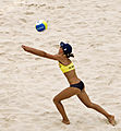 Doris Schwaiger, 2008 Summer Olympics beach volleyball.jpg