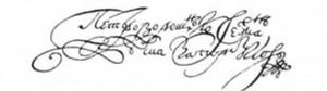 Petro Doroshenko - Image: Doroshenko Signature