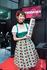 "Double handed MELODICA player ""pianonymous"" at Musical Instruments Fair Japan 2016.jpg"