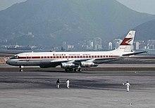 Garuda indonesia wikipedia a garuda indonesia douglas dc 8 at kai tak airport on 1967 stopboris Choice Image
