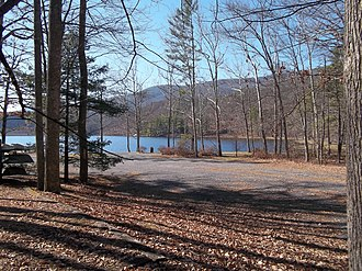 Douthat State Park - Image: Douthat State Park Virginia lake view 1