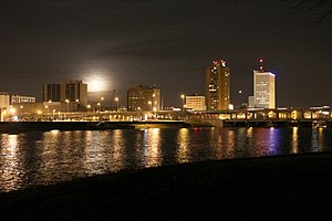 Cedar Rapids, Iowa - Downtown Cedar Rapids, overlooking the Cedar River.