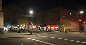 Woodland, California - Downtown Woodland, at Second and Main St.