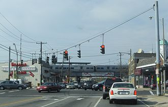 Wantagh, New York - Intersection of Wantagh Ave. and Sunrise Highway.