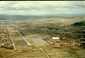 4th Engineer Battalion (United States) - The 4th Infantry Division Base camp, known as Dragon Mountain on 2 December 1967. The 4th Engineer Battalion contributed to the construction of the 2000 ft. C-123 runway by laying down M8A1 matting.