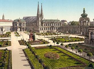 Saxony - Zwinger in Dresden, 1895