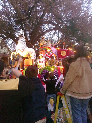 Bacchus parade, New Orleans, the Sunday evenin...