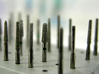 Dental drill - A collection of various burrs used in dentistry.