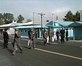 Drivers cross back over to Panmunjom, Republic of Korea, after driving a caravan of 501 cattle and 50 vehicles into North Korea 981027-F-XT789-518.jpg