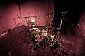 Drum recording setup, Toot Toot in Mankku Studio.jpg