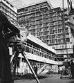 Dunakorzó, az MTV közvetít a Hotel Duna Intercontinental építkezéséről. Fortepan 56265.jpg