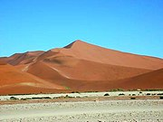 Complex dune: Dune 7 in the Namib desert, one of the tallest in the world.