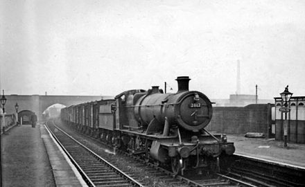 Dunstall Park railway station in 1958 Dunstall Park station geograph-2516514-by-Ben-Brooksbank.jpg