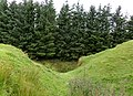 Dunton Cove access, Scottish Covenanters artificial cave, Craufurdland Water, Ayrshire.jpg