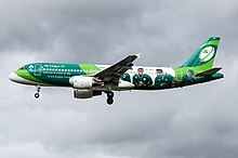 Aer Lingus Airbus A320-200 in the Irish Rugby Livery