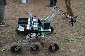 University of Saskatchewan College of Engineering - European Rover Challenge 2015, in Poland. First day of the competition, the winning rover built and run by the U of S Space Design Team (USST)