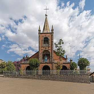 Ethiopian Catholic Archeparchy of Addis Abeba - St. Mary's Nativity Cathedral in Addis Ababa, exterior