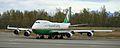 EVA Air Cargo 747 turning onto the active runway at ANC (6194233398).jpg