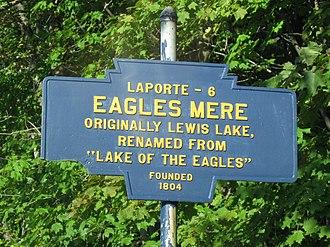 Eagles Mere, Pennsylvania - Image: Eagles Mere, PA Keystone Marker