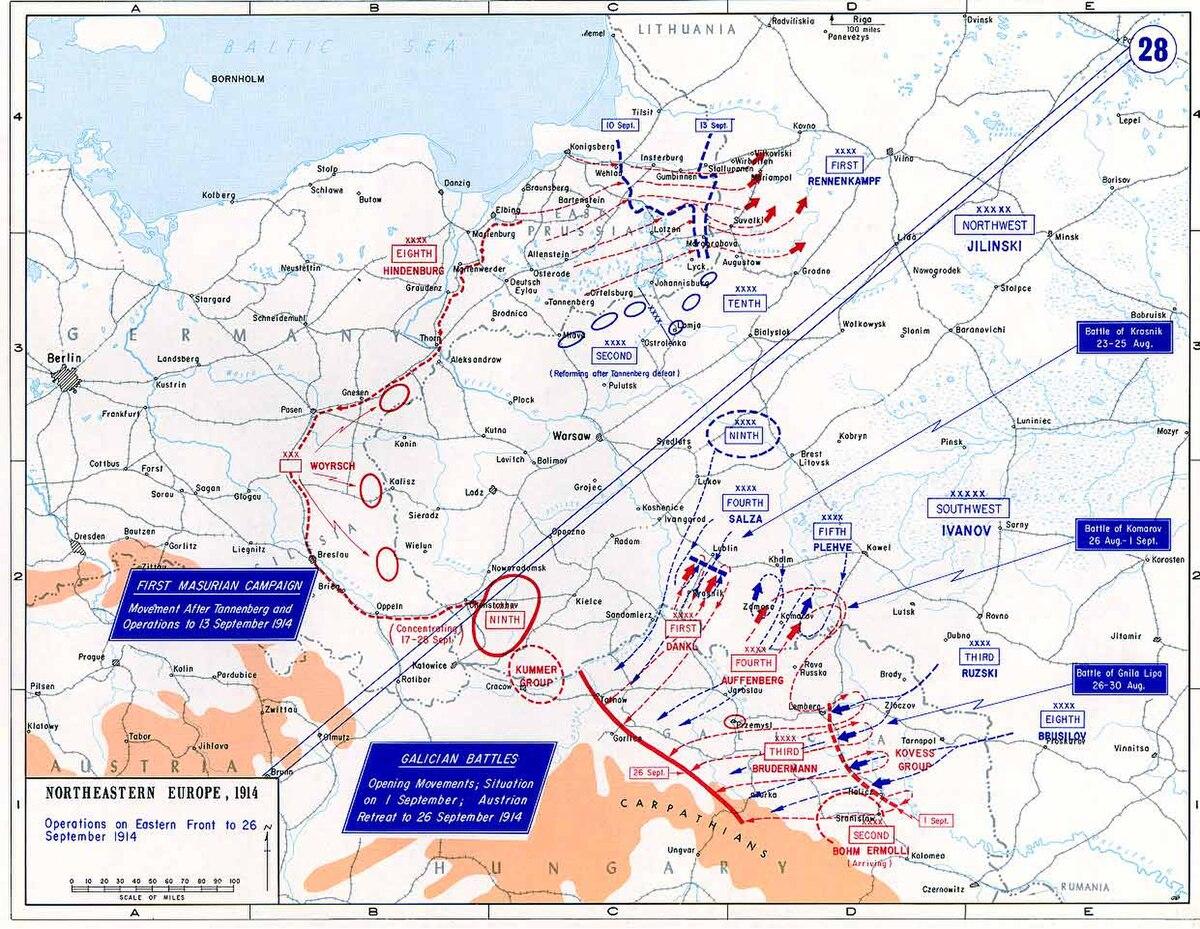 Battle of Galicia - Wikipedia