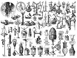 Gas lighting - An overview of lighting technology, circa 1900