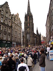 The Royal Mile in the Old Town during the Edinburgh Festival