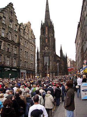 The Hub, Edinburgh - The Hub seen from the Lawnmarket during the Edinburgh Festival.
