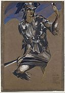 Edward Burne-Jones - The Perseus Series - Study of Perseus in Armour for The Finding of Medusa - Google Art Project.jpg
