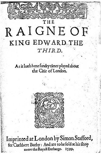 Edward III (play) - The 1599 Second Quarto of the play