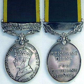 Efficiency Medal (South Africa) Award