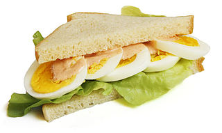 Egg sandwich sandwich with some kind of egg filling