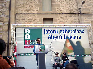 Josu Jon Imaz en un acto de EGI en 2004