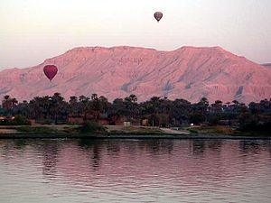 Hot-air ballooning in Luxor