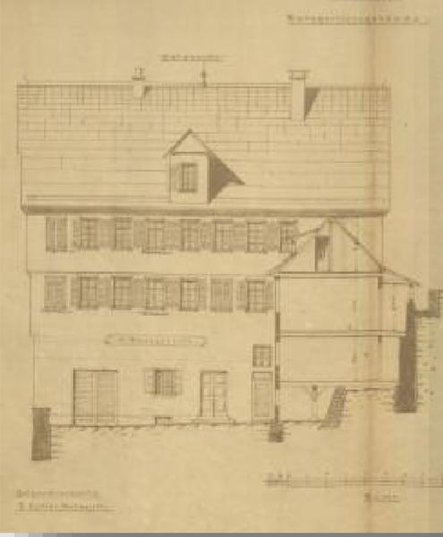 Datei:Ehemaliges Tübinger Oberamtsgericht in der Neckarhalde 30 b beim Hirschauer Tor (Staatsarchiv Sigmaringen Wü 128-7T4 Nr. 5).png