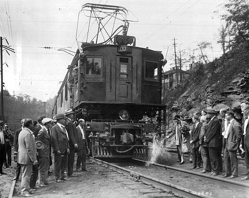 Electric locomotive christening 1925