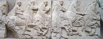 Section of a frieze from the Elgin Marbles.