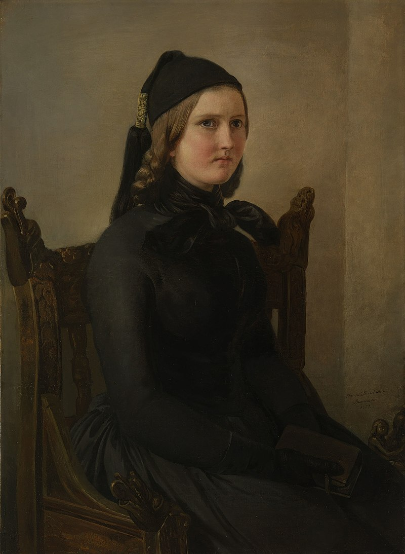 Элизабет Иерихау-Бауманн (1819-81) - 'Норвежская вдова' - RCIN 403883 - Royal Collection.jpg