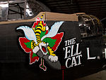 Ell Cat Lancaster nose at Bomber Command Museum Canada Flickr 8048045747.jpg